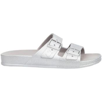 Schuhe Damen Pantoffel Cacatoès Salvador Silbern