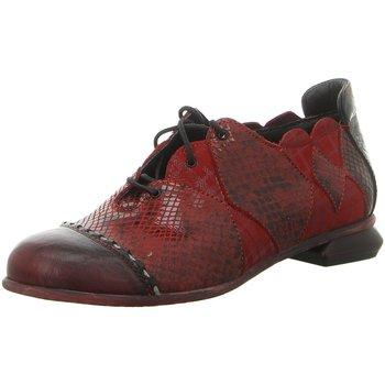Schuhe Damen Derby-Schuhe Simen Schnuerschuhe 2291A WEINROT rot