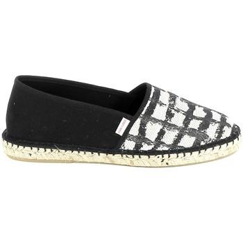 Schuhe Damen Leinen-Pantoletten mit gefloch Pare Gabia PARE GABIA VP Mix Noir Blanc Schwarz
