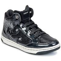 Schuhe Mädchen Sneaker High Geox CREAMY A Schwarz