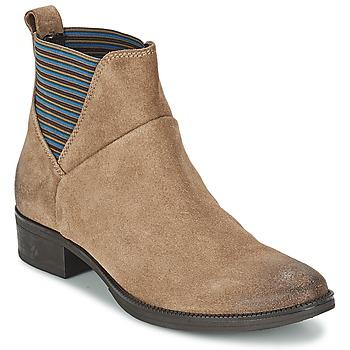 Schuhe Damen Boots Geox MENDI ST D Beige