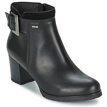 Schuhe Damen Low Boots Geox LISE Schwarz