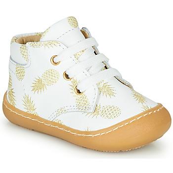 Schuhe Mädchen Sneaker High GBB ATARINA Weiss / Gold