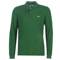 Kleidung Herren Langärmelige Polohemden Lacoste L1312 Grün