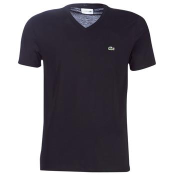 Kleidung Herren T-Shirts Lacoste TH6710 Schwarz