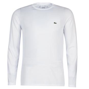 Kleidung Herren Langarmshirts Lacoste TH6712 Weiss