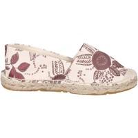 Schuhe Mädchen Leinen-Pantoletten mit gefloch Manila Grace espadrilles textil beige