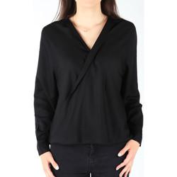 Kleidung Damen Hemden Wrangler Damenhemd  L/S Wrap Shirt Black W5180BD01 schwarz
