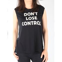 Kleidung Damen Tops Lee Damen T-Shirt  Muscle Tank Black L42CPB01 schwarz