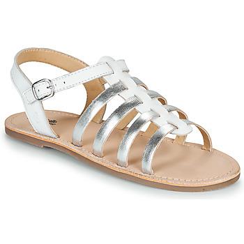 Schuhe Mädchen Sandalen / Sandaletten Citrouille et Compagnie MAYANA Weiss / Silbern