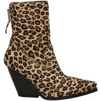 Schuhe Damen Low Boots Poesie Veneziane CAVALLINO SAFARI leopa-leopardo