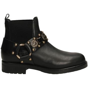 Schuhe Damen Low Boots Albano RIO neror-nero-oro