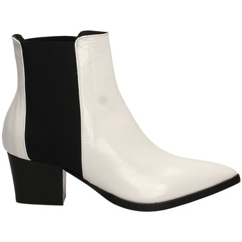 Schuhe Damen Low Boots Lemaré HARRODS ELASTICO biane-bianco-nero