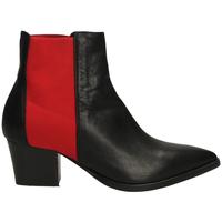 Schuhe Damen Low Boots Lemaré TEXAS CON ELASTICO neros-nero-rosso