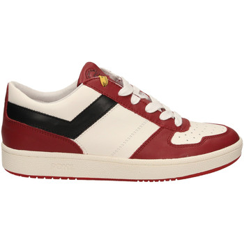 Schuhe Herren Sneaker Low Pony CITY WINGS c7-bianco-rosso