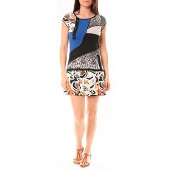 Kleidung Damen Kurze Kleider Bamboo's Fashion Robe BA1513 Bleu Blau
