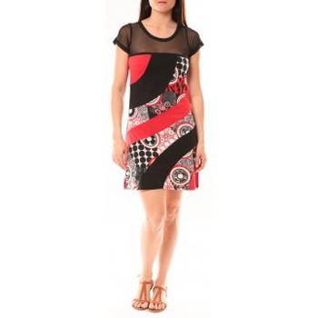 Kleidung Damen Kurze Kleider Bamboo's Fashion Robe BA1515 Rouge Rot