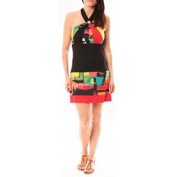 Kleidung Damen Kurze Kleider Bamboo's Fashion Robe BA1517 Rouge Rot