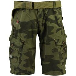 Kleidung Herren Shorts / Bermudas Geographical Norway PEANUT MEN CAMO NEW Herren Shorts Neu marron