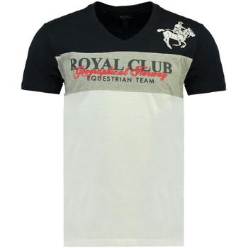 Kleidung Herren T-Shirts Geographical Norway JICE ss MEN Herren T-Shirt Neu blanc