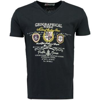 Kleidung Herren T-Shirts Geographical Norway JIVISION ss MEN Herren T-Shirt Neu bleu