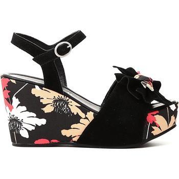 Schuhe Damen Sandalen / Sandaletten Café Noir KJS624 E18.010 NERO