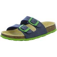 Schuhe Jungen Pantoffel Superfit Schuhe Hausschuh Textil \ FUSSBETTPAN 0-800111-8200 blau