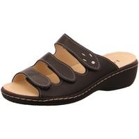 Schuhe Damen Pantoffel Longo Pantoletten Pantolette 1006392 schwarz