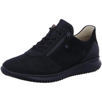 Schuhe Damen Sneaker Low Hartjes Schnuerschuhe halbschuh 111262-1-01 schwarz