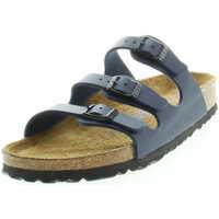 Schuhe Damen Pantoffel Birkenstock Classic 554713 Damen Tieffußbett Pantolette Florida Dunkelblau Blau