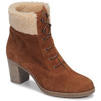 Schuhe Damen Low Boots André BOHEME Camel