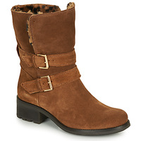 Schuhe Damen Boots André MAJOLIE Camel