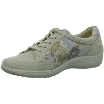 Schuhe Damen Sneaker Low Longo Schnuerschuhe Beq.bis25mm-Abs/Keil 1008350 beige