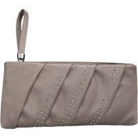 Taschen Damen Geldtasche / Handtasche Made In Italia beige satin strass AB989 beige