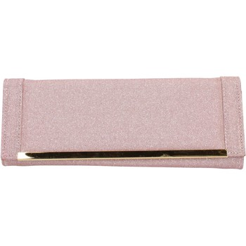 Taschen Damen Geldtasche / Handtasche Made In Italia pink textil gold AB990 pink