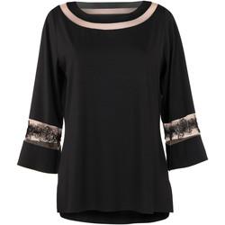 Kleidung Damen Tuniken Lisca Langärmeliges Oberteil Luxury Dream Perlschwarz