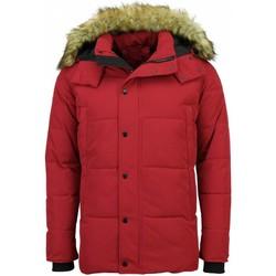 Kleidung Herren Daunenjacken Enos Winterjacke E Winterjacke Jacke Mit Fellkragen Rot