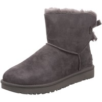 Schuhe Damen Schneestiefel UGG Stiefeletten mini bailey bow 1016501 grey grau