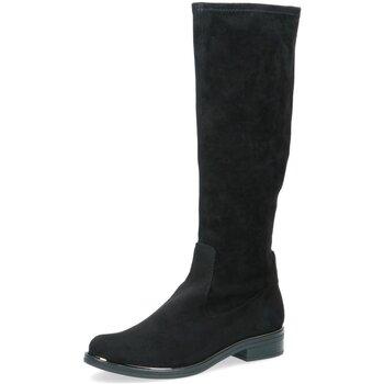 Schuhe Damen Klassische Stiefel Caprice Stiefel Schwarzer Stiefel mit Stretch 25512-044 schwarz