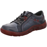 Schuhe Damen Sneaker Low Kacper Schnuerschuhe 2-1166 blau