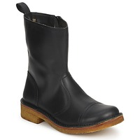 Schuhe Damen Low Boots Swedish hasbeens DANISH BOOT Schwarz