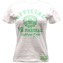 Kleidung Damen T-Shirts Sweet Company T-shirt US Marshall Blanc florida Weiss