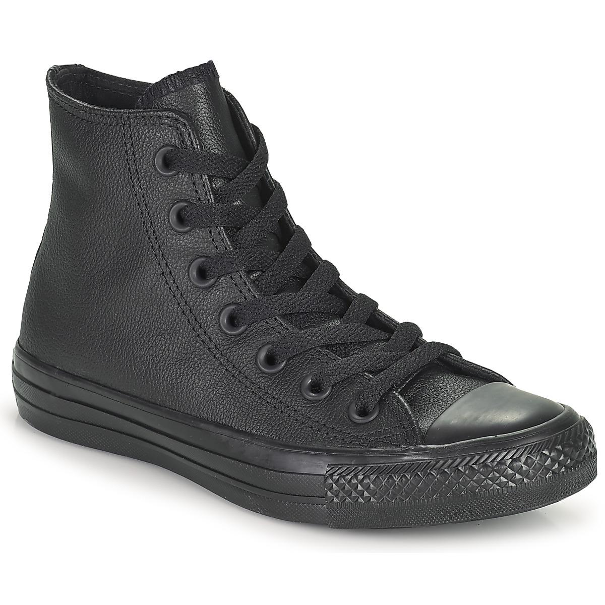 Converse CHUCK TAYLOR ALL STAR MONO HI Schwarz - Kostenloser Versand bei Spartoode ! - Schuhe Sneaker High  71,99 €