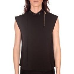 Kleidung Damen Tops / Blusen By La Vitrine Débardeur  noir Schwarz