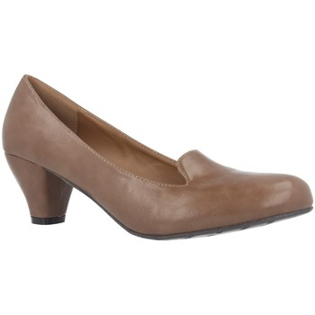 Schuhe Damen Pumps Andres Machado AM5053 Soft Taupe Braun