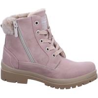 Schuhe Mädchen Boots Mustang Schnuerstiefel 5037605 rosa