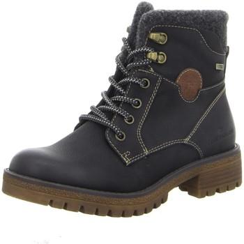 Schuhe Damen Boots Tom Tailor Stiefeletten 2191002 schwarz