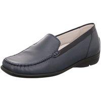Schuhe Damen Slipper Waldläufer Slipper Harriet blau