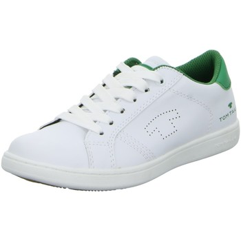 Schuhe Jungen Sneaker Low Tom Tailor Low 9673103,white-green 9673103 weiß