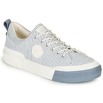 Schuhe Damen Sneaker Low Palladium STUDIO 02 TXT Weiss / Blau